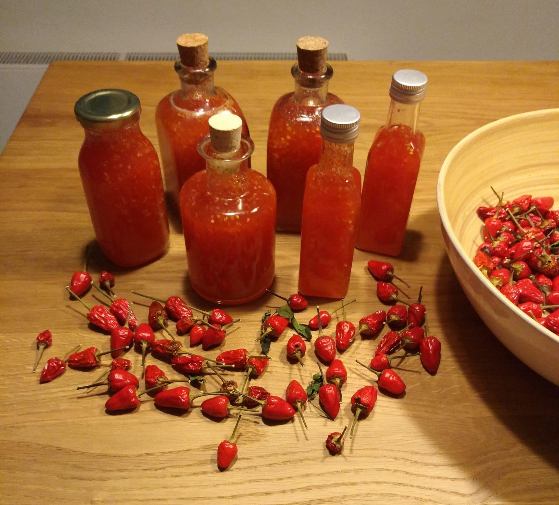 Chiliernte verarbeiten - Sweet Chili Soße